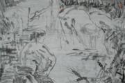 画家吴山明写意人物画(出售中)