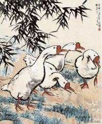 徐悲鸿画鹅也是一绝