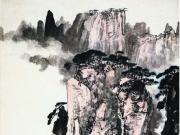 黄山玉屏峰--梁树年