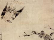 高其佩《饥鹰博食图轴》