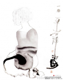 """""""东方毕加索""""笔下的水墨人体画"""