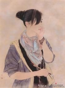 她画人物画虔诚、严谨、专注 ……