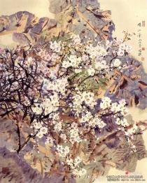 郭怡孮笔下的大写意重彩画