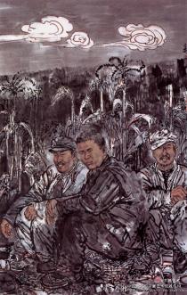 从他画的人物画 就能看出是个军人