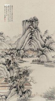 张大千《临王叔明夏山隐居图》