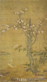 元代佚名的《杏花鸳鸯图》