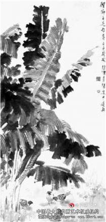 徐悲鸿:芭蕉麻雀