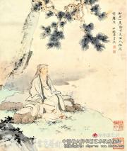 陈少梅民国书画作品前景