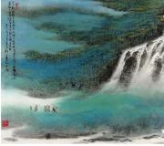 看郑百重山水画