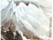 时全兴的西部山水画