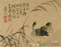 """清代画家边寿民的""""芦雁"""""""