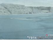 塞摩塞姆千佛洞前流沙河