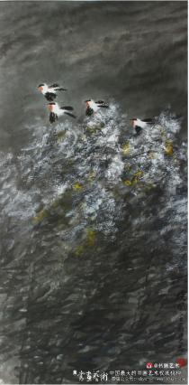 """他的花鸟画作品带着一种""""儒雅"""""""