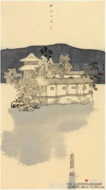 画家孙宽和他的园林画