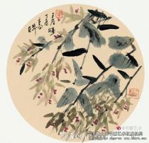 赞画家高晔的石斛作品