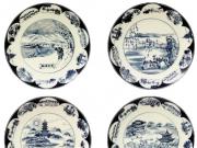 西湖十景艺术青花瓷盘创作谈