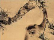 高奇峰《松猿图》赏析
