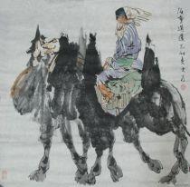 少数民族风情画家刘大为