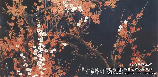 蔡克振漆画报春