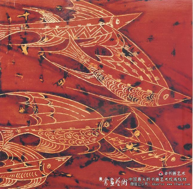 蔡克振漆画飞鱼