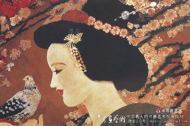 蔡克振漆画 红棉