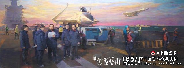 航空报国的楷模——罗阳(油画)   张峻明