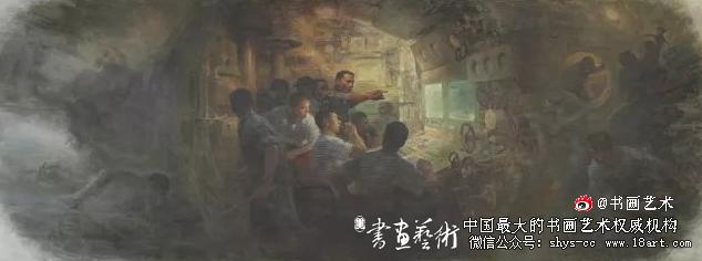 英雄壮歌——海军372潜艇(油画)秦文清    王  睿