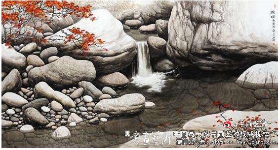 李留海 画石 国画作品