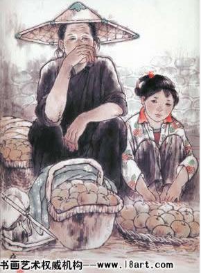 《山村妇女》组画之一