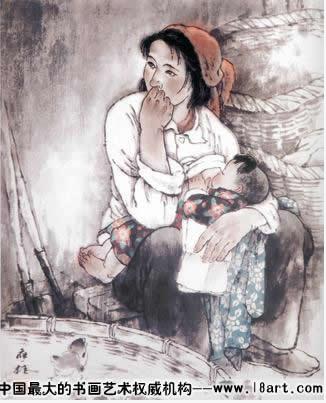 《山村妇女》组画之二