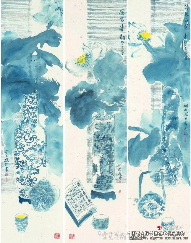 """▲""""雅室清韵'(140x35)cmX3周雅玲"""