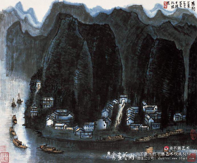 ▲李可染1963年作《阳朔一景》54cm×65cm