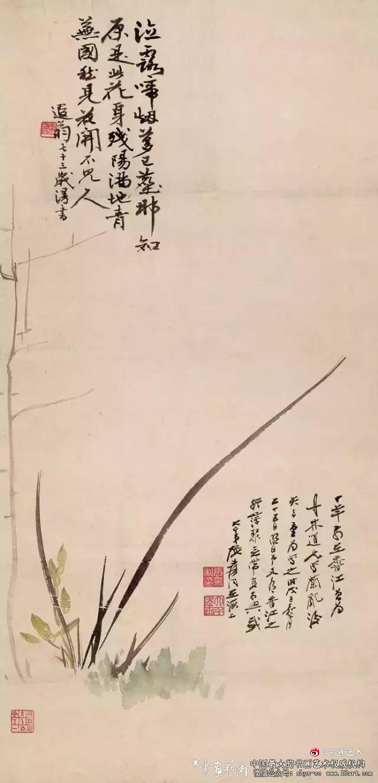兰花图》 张大千(1899—1983)