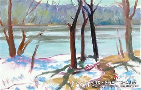 非常简单的风景油画