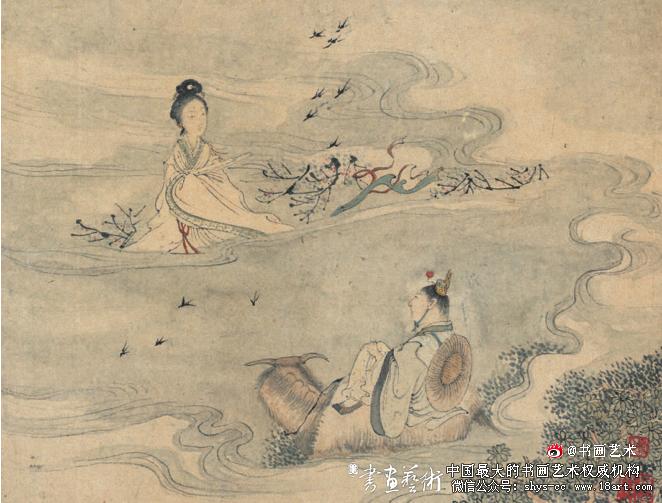 《沙山春》人物之二  纸本设色  25.5cm×31.5cm