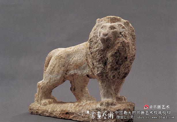 石狮  作者:刘焕章  创作年代:1962  规格:17×50×40cm  材质:花岗岩雕塑