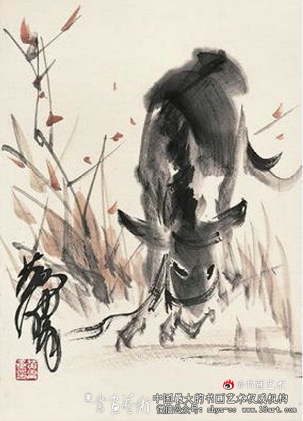黄胄 单驴图