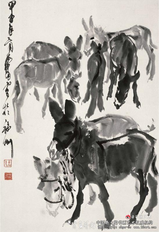 黄胄 群驴图