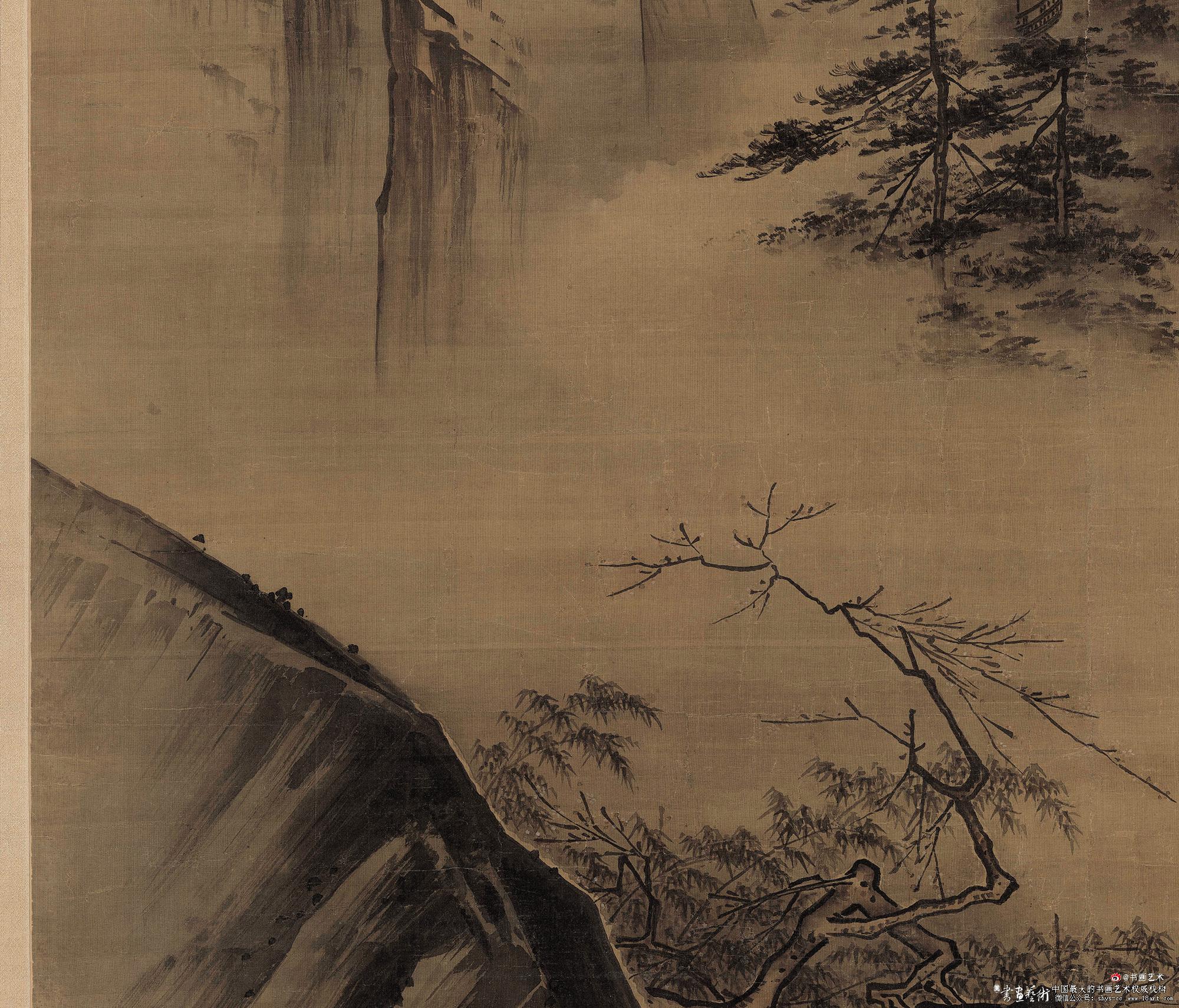 《踏歇图》,绢本,水墨谈设色, 192.5×111cm 藏于北京故宫博物馆 局部
