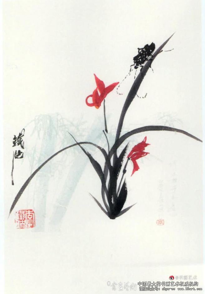 李铁映 幽兰翠羽 30cm × 20cm