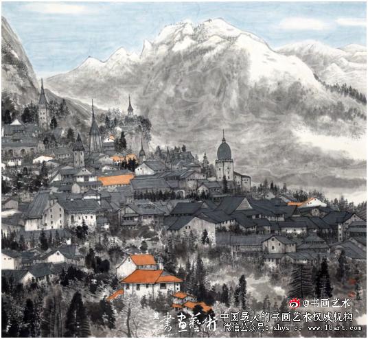 许惠南  瑞士纪行之二  90cm×96cm  2017年