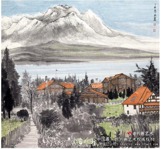 许惠南  瑞士纪行之五  90cm×96cm  2017年