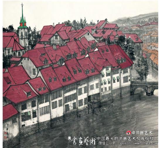 许惠南  瑞士纪行之十  90cm×96cm  2017年