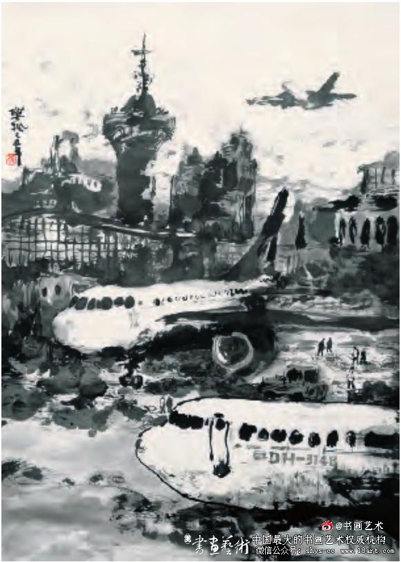 《欧来欧去系列》樊 枫 纸本水墨 100cm×68cm 2010年
