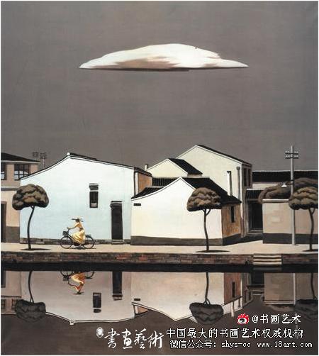 《故乡的云》(油画)入选2006中国百家金陵画展