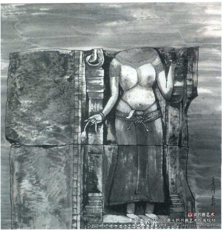 许惠南 吴哥遗韵之一 68cm x 68cm