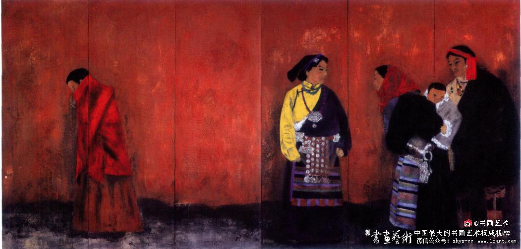 王伯勋 藏地一红墙 200cm x 480cm 2011年