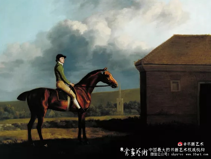 奥索与骑师约翰·拉金 乔治·斯塔布斯  1013×1270mm 1768   泰特:1979年保罗·梅隆通过英国体育艺术信托基金赠送