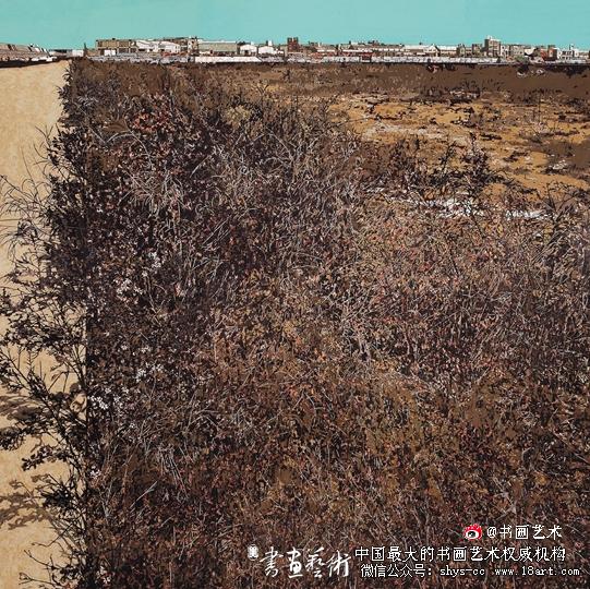 张玉惠(福建) 地标 150×150cm 漆画(第六届全国青年美术作品展作品)