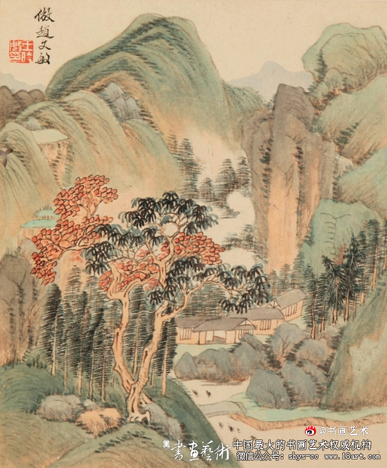 王时敏 仿宋元各家山水册之二 30.3×25.4cm 苏州博物馆藏